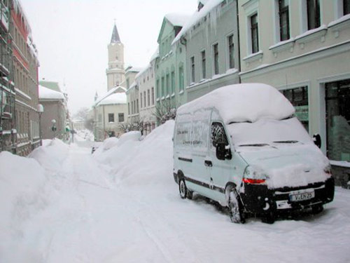 Ratz & Pschera GmbH - Winter in Markneukirchen & Schnee in den Strassen