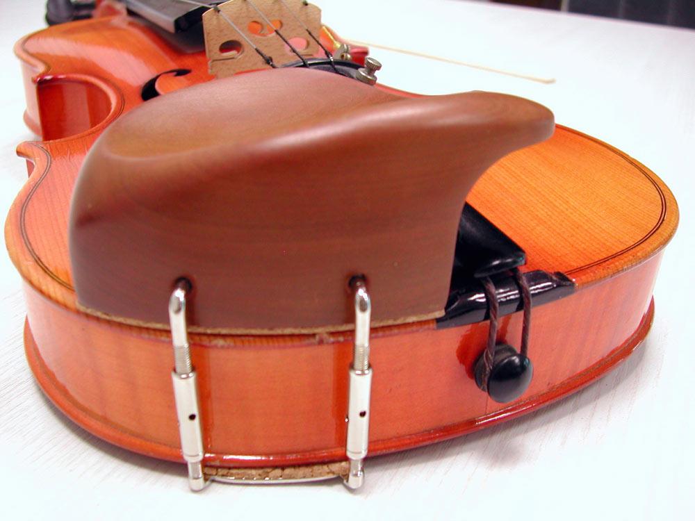 Sonderanfertigung Kinnhalter Warga mit extrem hohem Wulst online kaufen bei Musikinstrumentenhandel.de